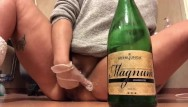 Bbw squiting Very big bottle was to big for me