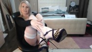 Hairspray on bottom of point shoes Shoes, stockings and pantyhose show