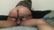 Step-Mom Mrs. Meaty Rides Son's BBC For A Creampie