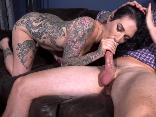 Arabelle's deep throat and tight pussy