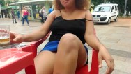 Roller coaster boob flash - Bbw ebony flashing at donwtown and do public blowjob