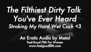 Dirty talking sexual audio - Stroking my cum-covered cock talking dirty erotic audio for women