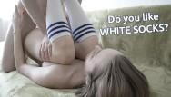 White socks teen porn - Sex with step sister in white socks