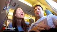 Perline facial filler - Risky blowjob in a plane to berlin - mile high club - amateur mysweetapple