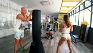Upskirt workout figure skating Workout turns to a hard fuck in the gyms shower - amateur