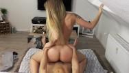 Cunilingus orgasms Blonde amateur rides reverse to creampie orgasm pov