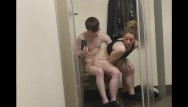 Fill up her pussy - Two pump chump tries to keep up and just fills her pussy early inside store