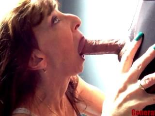 Petite Sexy Milf Marie Blowjob Close Up Big Cock Swallow Keep Sucking