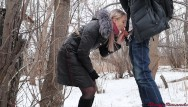 Teen girl groped in public Girl was fucked by stranger in a winter park