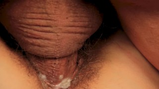 Milf tight pussy extremely streches close up creampie