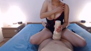 Post orgasm cockhead handjob - Fleshlight pov, i dont stop after he cum post orgasm