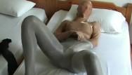 Nylon pantyhose encasement Encasement pantyhose nylon multilayer masturbation in the hotel room
