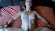 Demeter fragrance redhead in bed Tied up to bed. pov bdsm