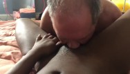 Male pussy slave - White slave eating my pussy