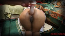 huge dildo leaves the ass open to horny mature