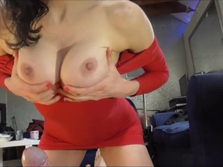 Super Hot Milf extreme pissing on lucky guy before fucking him and CIM
