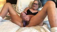 She takes 60 cocks - Hot milf takes 9 inch dildo mature granny 60 year old