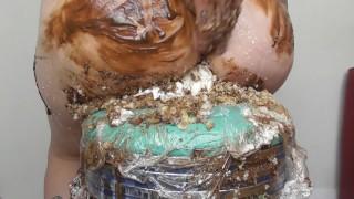 CRUSHING ICE CREAM CONES IN HEELS & BIG ASS CAKE SITTING