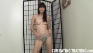 Video man eats cum Femdom cum eating fetish and pov domination videos