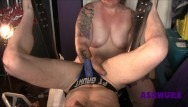 Old mature femdom tgp - Pov of a tattooed femdom giving a guy a super intense fisting