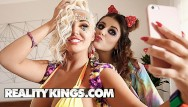 Lesbian nina james Reality kings - big tit raver girls michele james karissa shannon 69
