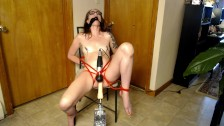 Abused teen tied up and tormented with sex machine and wand past squirting