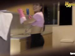 Mamacitaz - Insatiable Colombian Petite Maid Screwed Stiff During Work
