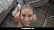 Busty dominatrix seducing boy - Pervmom - busty blonde cougar seduces her husbands son