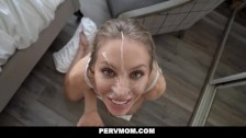 PervMom - Busty Blonde Cougar Seduces Her Husband's Son