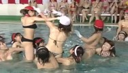 Asian game gold medalist - Jav huge pool meet topless cavalry charge game with subtitles