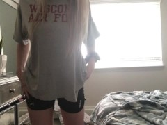 Sexy Teenage Disrobe Tease