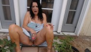 Amateur black cum Mom smokes and cums on black cock outside