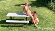Missy hyatt free nude - Risky outdoor blowjob full nude from missy and george