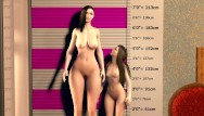 Tall slender blonde boobs - Big boob lesbian giantess breast expansion - tall vs small comparison