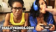 Noirin kelly tits - Reality kings - ebony gamer girls anya ivy kira noir play with white joy