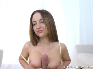 Big Tits Blonde From Russia Gets Fucked In The Ass And Anal Creampied