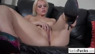 Nadia petrova pussy Nadia stuffs her tight pussy with dildo