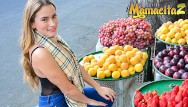 Breast seller 3 - Mamacitaz - bootylicious colombian fruit seller rides cock after work