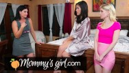 The strip joiny Milf-in-law caught her cheating joins in- mommysgirl