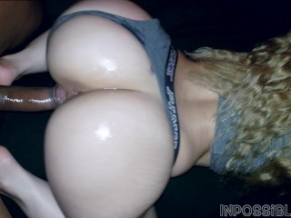 OILED PAWG GETS FUCKED UNTIL SHE CREAMS BY BIG BLACK DICK