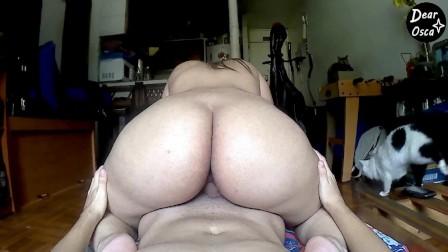 Hot Latina TEEN RIDES stepBROTHER s COCK