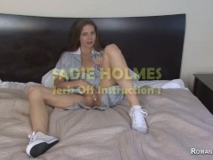 Jerk Off Guidelines With Sadie Holmes Telling You To Wank To Her