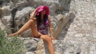 Treasure trail hairy women No panties in public on turistic trail