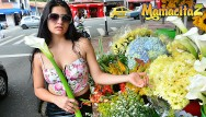 Threeway sex orgies Mamacitaz - rough threeway sex with kinky amateur colombian teen