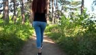 Eik do teen - Beautiful girl doing blowjob in the park / public blowjob