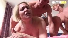 AmateurEuro - German Slutty MILFs Drain a Big Cock Of All The Cum