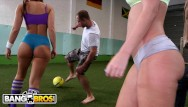 Ass big booty white - Bangbros - young big booty white girls playing with balls for fun