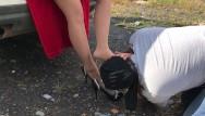 Nylon pantyhose tights - Slave lick shoes mistress pantyhose nylon tights foot fetish femdome