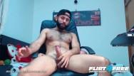 Free gay hairy bear Flirt4free - hevan brooke - hairy latino fucks and cums in his pocket pussy