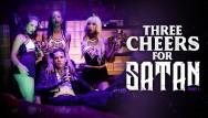 Satans sluts - Three little cheerleaders for satans cock- burningangel